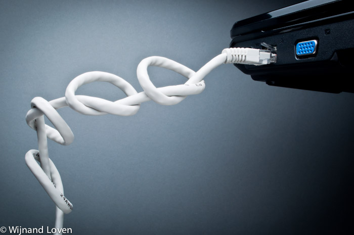 Foto van het idee dat ook digitale communicatie kan verstoord worden