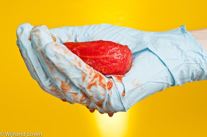 Conceptfoto van genetisch gemodifceerd voedsel