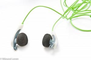 Foto van Sennheiser in-ear koptelefoon op witte achtergrond