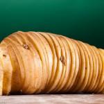 Fijn gesneden aardappel in oorspronkelijke vorm