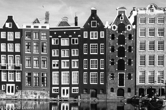 Infrarood fotografie van Amsterdams huizen
