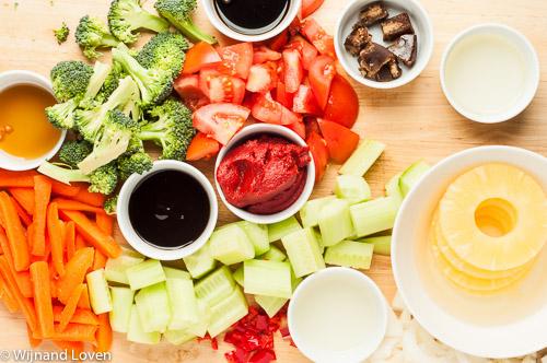 Ingredienten voor een heerlijke Thaise roerbakschotel