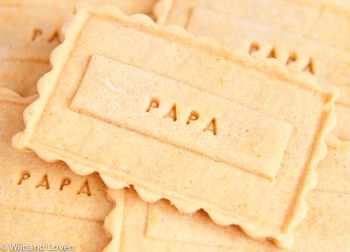 Vaderdagkaartje - papa op een koekje