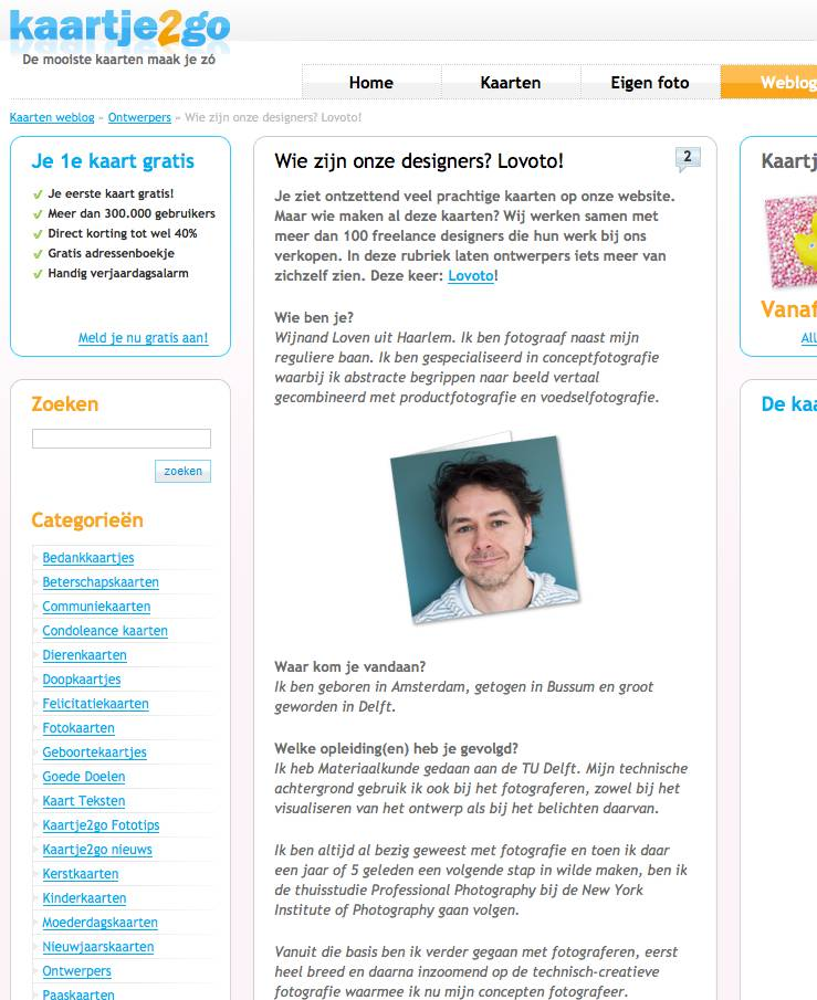 interview wijnand loven (lovoto) door kaartje2go.nl