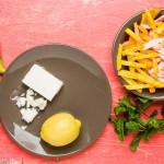 Rauwe bietensalade met peer, feta en munt - bietjes gesneden