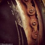 Instagram roest met fietsketting