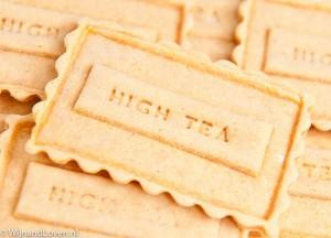 Koekjes met High Tea erop gebakken