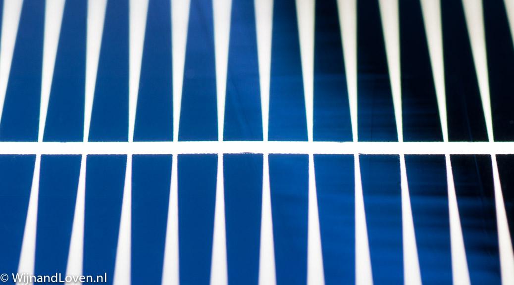 abstracte macrofoto van zonnecel