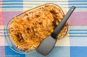 macaronischotel uit de jaren tachtig - het krokante korstje