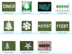 Overzicht van de Kerstkaarten 2015 op Kaartje2go.nl