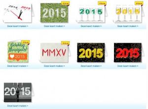Nieuwjaarskaarten 2015 Kaartje2go