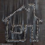housewarming concept van verbrande lucifers
