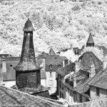 Infrared image of vilage in central France