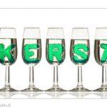 Kerst in champagne glazen