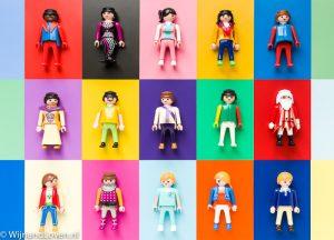 Kleurenkaartje - met Playmobil.