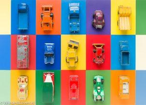 Kleurenkaartje - met speelgoedauto's.