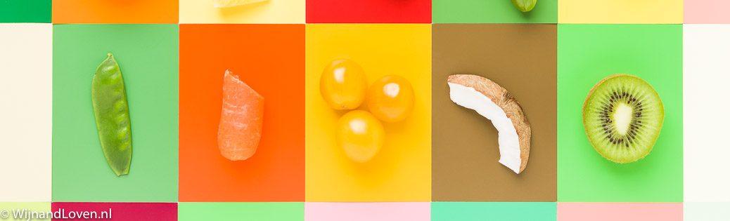 Kleurenkaartje - met fruit en groente.